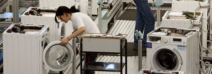 Fertigungslinie für Waschmaschinen der BSH Bosch und Siemens Hausgeräte GmbH in Nauen.