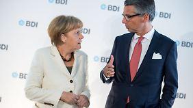 """""""Brauchen Anreize für Investition"""": BDI-Chef überschüttet Merkels Politik mit Kritik"""