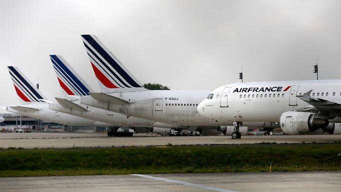 Air France kostete der Pilotenstreik viel Geld.