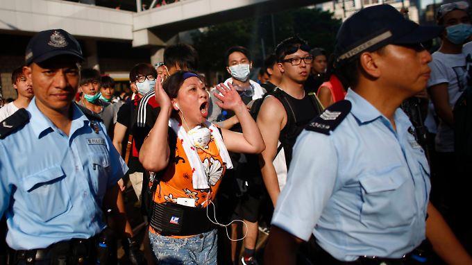 Seit Tagen ist Hongkong Schauplatz von Massendemonstrationen.