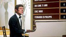 """Der Durchbruch gelingt ihm 1966 bei seiner dritten Teilnahme am Eurovision Song Contest (damals noch: Grand Prix Eurovision) mit einem Lied, das auf der Liste seiner Evergreens weit oben steht: Er gewinnt mit """"Merci, Chérie"""" - für Österreich."""
