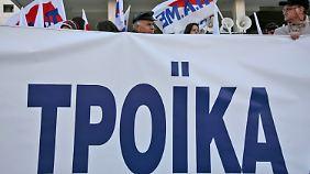 """Troika zu Besuch in Athen: """"Griechenland bleibt das am höchsten verschuldete Land"""""""