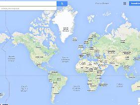 Die Mercator-Projektion wurde 1569 für die Seefahrt entwickelt. Sie wird auch heute noch oft genutzt.
