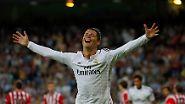 Bei der WM in Brasilien lief es mit Portugal niocht so, nun trifft Cristiano Ronaldo für Real Madrid wieder wie er will. Zum Beispiel gegen Athletic Bilbao.