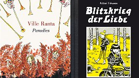 """Paradies"" (l.) ist bei Reprodukt erschienen, ""Blitzkrieg der Liebe"" bei Avant."