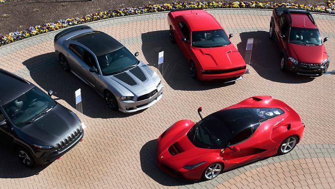 """Fiat ist mehr als nur Ferrari: Zum """"FCA"""" gehlren etwa auch Jeep und Dodge."""