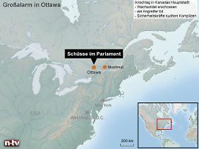 Kanadas Hauptstadt Ottawa liegt etwa auf halbem Weg zwischen Toronto und Montreal und nur knapp 90 Kilometer von der Grenze zu den USA entfernt.