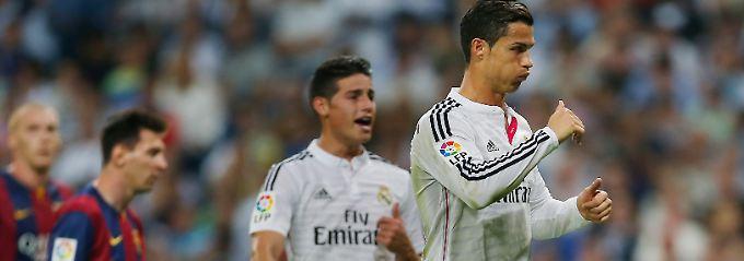 Ronaldo trifft, Messi enttäuscht: Real lässt Barca keine Chance im Clásico