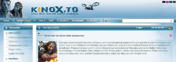 """""""Gewerbsmäßige Urheberrechtsverletzung"""" lautet unter anderem der Vorwurf gegen die Macher von """"kinox.to""""."""