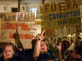 In Valdemoro kam es zu Protesten wütender Bürger.
