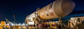 Da war noch alles gut: die Antares-Rakete vor ihrem Start.