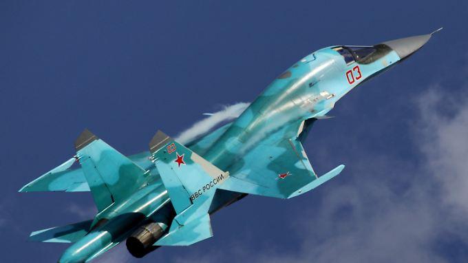 Die Suchoi Su-34 ist ein russischer Jagdbomber, ob Flugzeuge dieses Typs an dem Ausflug zur Ostsee beteiligt waren, ist aber unklar.