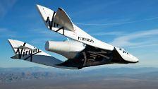 """Raumgleiter-Crash in Kalifornien: """"SpaceShipTwo"""" zerbricht in der Luft"""