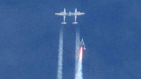 """""""SpaceShipTwo"""" abgestürzt: Raumgleiter-Testflug endet tödlich"""