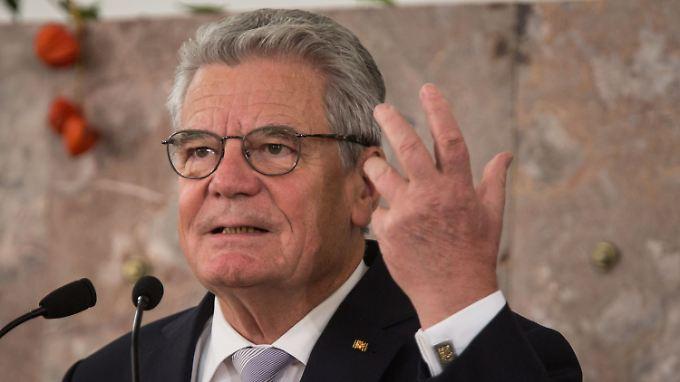 Joachim Gauck hat Probleme, Vertrauen zur Linkspartei zu entwickeln.