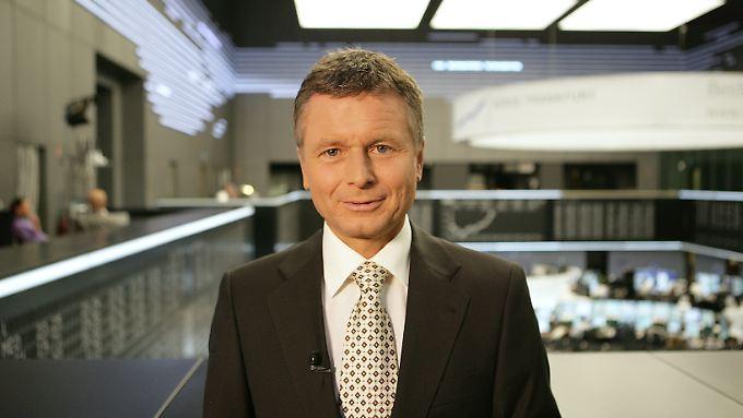 Moderiert bei n-tv die Telebörse: Raimund Brichta.