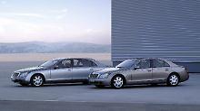 Der erste Mercedes-Maybach ist eine Ableitung der S-Klasse mit einem 20 Zentimeter längeren Radstand.