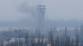 Hart umkämpft: Der Flughafen von Donezk.