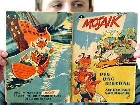 """Das erste """"Mosaik"""" aus dem Dezember 1955 ist heute mehrere tausend Euro wert."""