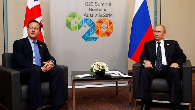 Der australische Ministerpräsident Tony Abbott und der russische Präsident Wladimir Putin.