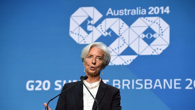 IWF-Chefin Christine Lagarde lobte die Anstrengungen bei Jobs für Frauen. Nun komme es aber darauf an, die Absichten auch umzusetzen.