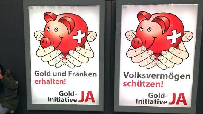 Mindestens ein Fünftel ihrer Reserven soll die Schweizerische Nationalbank in Gold halten, fordert eine Volksinitiative.