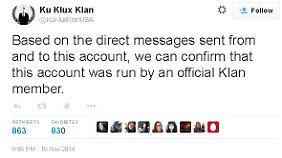 Der Twitter-Account wurde von einem offiziellen Klan-Mitglied geführt, will Anonymous herausgefunden haben.