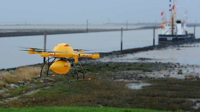 DHL mit Test zufrieden: Paket-Drohne beliefert Inselapotheke auf Juist