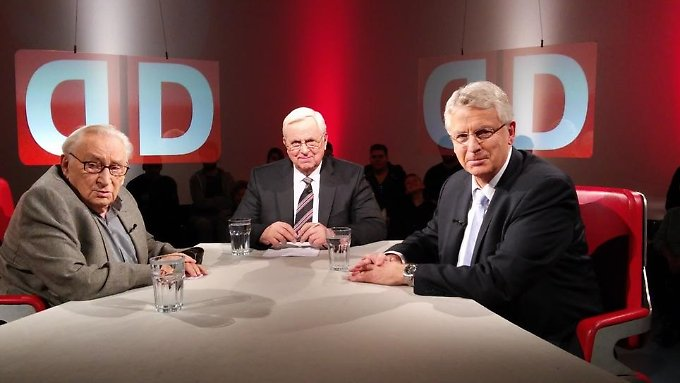 Egon Bahr  und Karl-Georg Wellmann zu Gast bei Heiner Bremer.