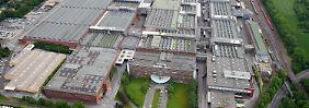 Ein letzter Blick auf das Bochumer Opel-Werk.