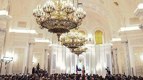 Rückbesinnung auf alte Größe: Putin spricht im Kreml zur Nation.