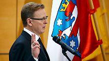 Erster linker Ministerpräsident: Ramelow schafft's im zweiten Anlauf
