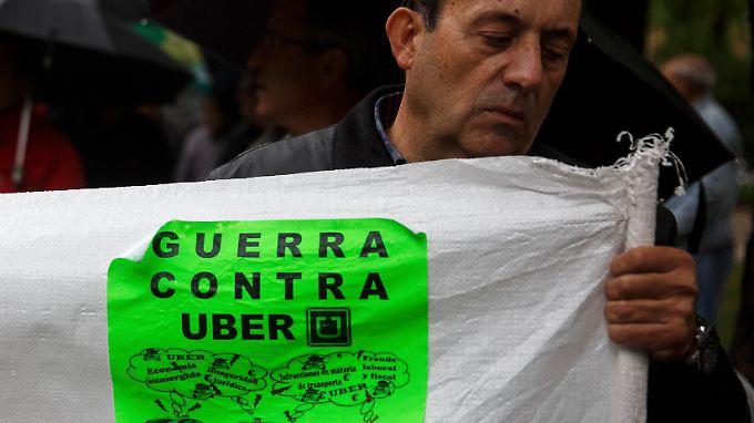 """Den """"Guerra contra Uber"""", den Krieg gegen Uber, haben die spanischen Taxifahrer zunächst für sich entschieden."""