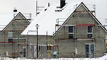 Hausbau im Winter ist möglich - solange die Temperaturen nicht unter 5 Grad plus fallen.