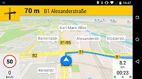 GPS Navigation & Maps ist eine gelungene Gratis-App mit moderaten Preisen für In-App-Käufe.
