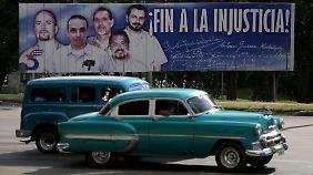 """Die """"Cuban Five"""" gelten in Kuba als Helden. Drei von ihnen sind noch inhaftiert und können sich nun auf ihre Freilassung freuen."""