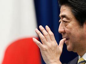 Premier Abe kann da predigen, wie er will.