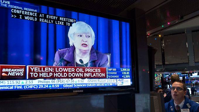 Fed-Chefin Yellen spielt auf Zeit: US-Leitzinserhöhung wird immer wahrscheinlicher