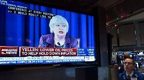 Beruhigung an den Börsen: Fed-Chefin Yellen spielt auf Zeit