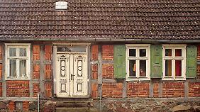 Ein altes Fachwerkhaus in der Prignitz.