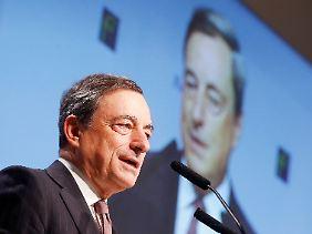 Mario Draghi fordert die Vollendung der Währungsunion.