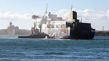 """Weitere Tote im Schiff vermutet: """"Norman Atlantic"""" macht in Brindisi fest"""