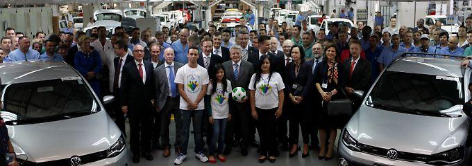 Deer Standort Anchieta zählt zu den wichtigsten VW-Standbeinen im brasilianischen Markt: Zum 60-jährigen Werksjubiläum 2013 kam sogar Bundespräsident Joachim Gauck.