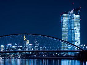 Blick auf das neue EZB-Gebäude in Frankfurt.