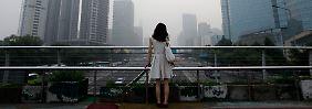 Blick auf Pekinger Hochhäuser.