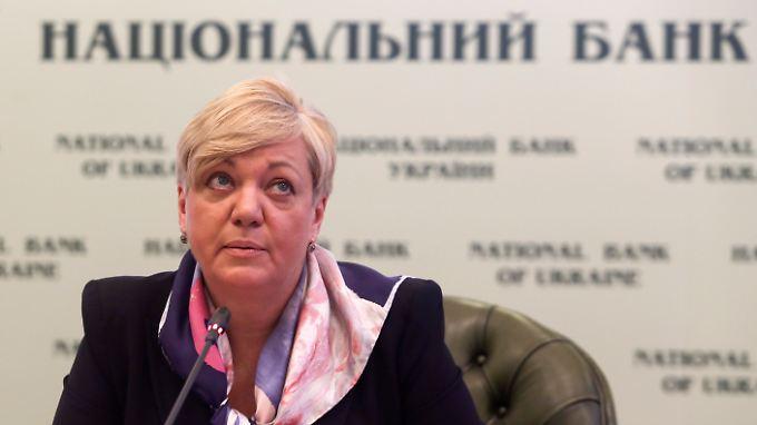Valeria Gontareva, Notenbankchefin, darf auf US-Hilfe für das Land hoffen.