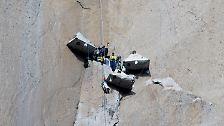 """Eine der schwersten Felswände der Welt: Freeclimber bezwingen """"Dawn Wall"""" des El Capitan"""