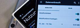 Spartipps fürs mobile Internet: Datenvolumen schnell verbraucht - was tun?