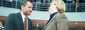 Edathy trifft auf Högl: Genosse gegen Genossin