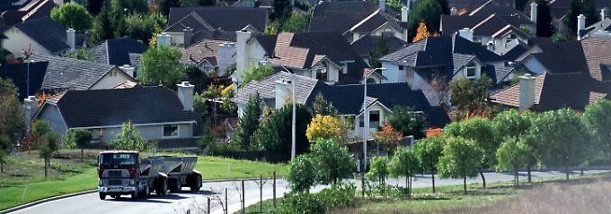 Wohnsiedlung im kalifornischen Silicon Valley.